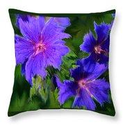 Blue Rags Throw Pillow