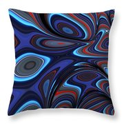 Blue Red Folds Throw Pillow