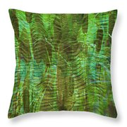 Blue Reed Throw Pillow