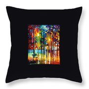 Blue Refelctions Throw Pillow
