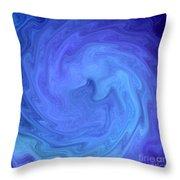 Blue Rendevous Throw Pillow