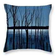 Blue Reservoir - Manasquan Reservoir Throw Pillow