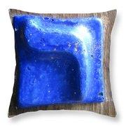 Blue Resh Throw Pillow