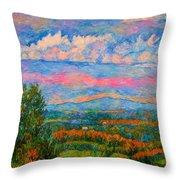 Blue Ridge Cloud Burst Throw Pillow