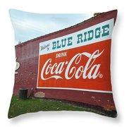 Blue Ridge Coke Throw Pillow
