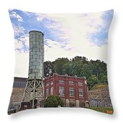 Blue Ridge Dam 4 Throw Pillow
