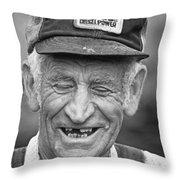 Blue Ridge Farmer Throw Pillow