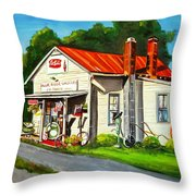 Blue Ridge Grocery Throw Pillow