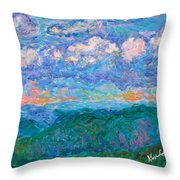 Blue Ridge Magic From Sharp Top Stage One Throw Pillow