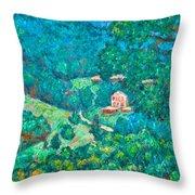 Blue Ridge Magic Throw Pillow