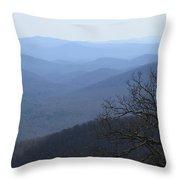 Blue Ridge Mountain Majesty Throw Pillow