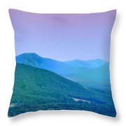Blue Ridge Mountains Throw Pillow