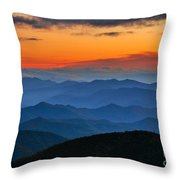 Blue Ridge Mountains. Throw Pillow
