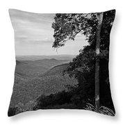 Blue Ridge Mountains - Virginia Bw 10 Throw Pillow