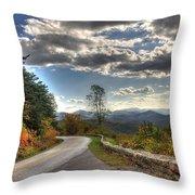 Blue Ridge Parkway, Buena Vista Virginia Throw Pillow