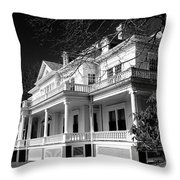 Blue Ridge Parkway Flat Top Manor Bw Throw Pillow