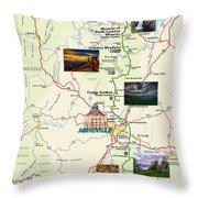 Blue Ridge Parkway In North Carolina Throw Pillow