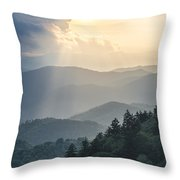 Blue Ridge Parkway Nc From Above Throw Pillow