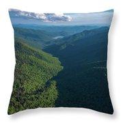 Blue Ridge Parkway Rainbow Gap Throw Pillow