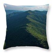 Blue Ridge Parkway Shadow Throw Pillow
