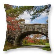 Blue Ridge Parkway Stone Arch Bridge Throw Pillow