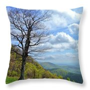 Blue Ridge Parkway Views - Rock Castle Gorge Throw Pillow by Kerri Farley