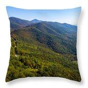 Blue Ridge Parkway5 Throw Pillow