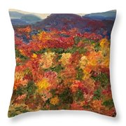 Blue Ridge Pastoral Throw Pillow