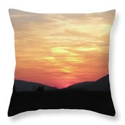 Blue Ridge Sunset Throw Pillow