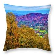 Blue Ridges Throw Pillow