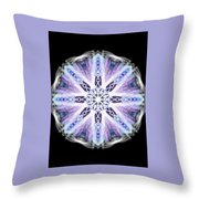Blue Ring Of Light Throw Pillow