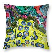 Blue Ringed Octopus Throw Pillow