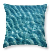 Blue Ripples Throw Pillow
