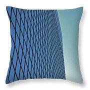 Blue Rise Throw Pillow