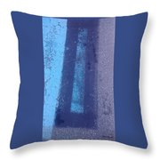 Blue Road Throw Pillow