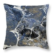 Blue Rock One Throw Pillow