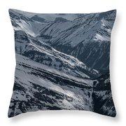 Blue Rockies Throw Pillow