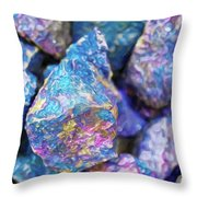 Blue Rocks Hold Throw Pillow