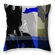 Blue Romance Throw Pillow by Naxart Studio