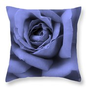 Blue Rose Abstract Throw Pillow
