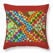 Blue Route Throw Pillow