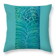 Blue Sago Throw Pillow