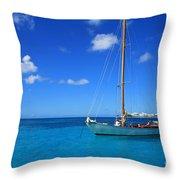 Blue Sailing Throw Pillow