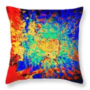 Blue Sally Blues Alley Throw Pillow