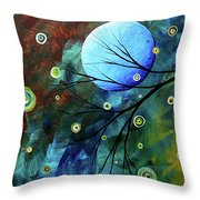 Blue Sapphire 1 By Madart Throw Pillow