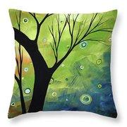 Blue Sapphire 3 By Madart Throw Pillow
