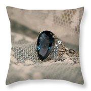 Blue Sapphire Throw Pillow