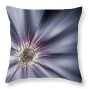 Blue Satin Throw Pillow