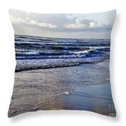 Blue Sea Throw Pillow