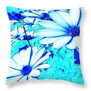Blue Season Throw Pillow